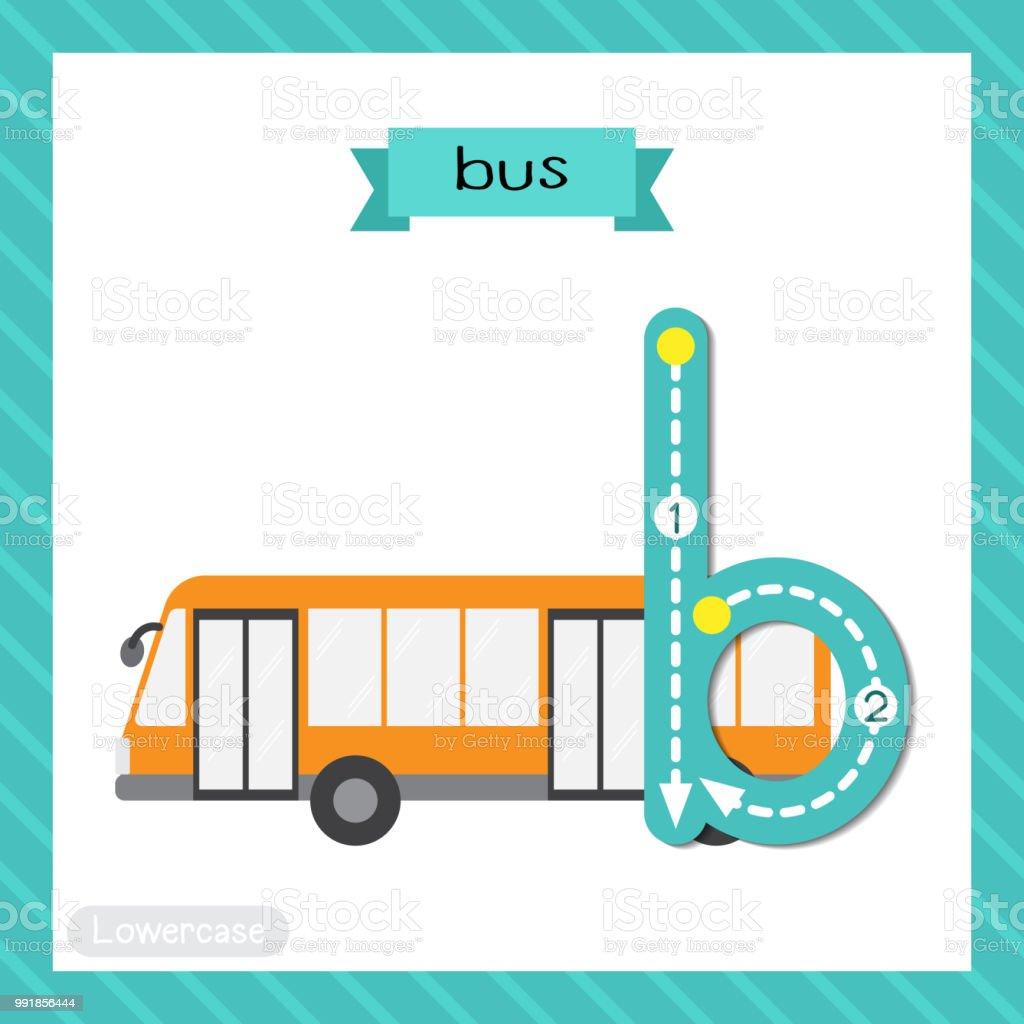 Buchstabe B Kleinbuchstaben Ablaufverfolgung Bus Stock Vektor Art ...