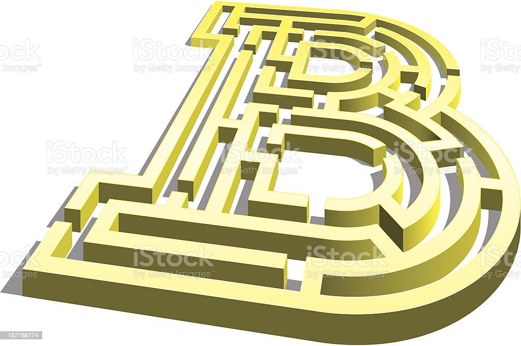 Letter B Maze royalty-free letter b maze stock vector art & more images of alphabet