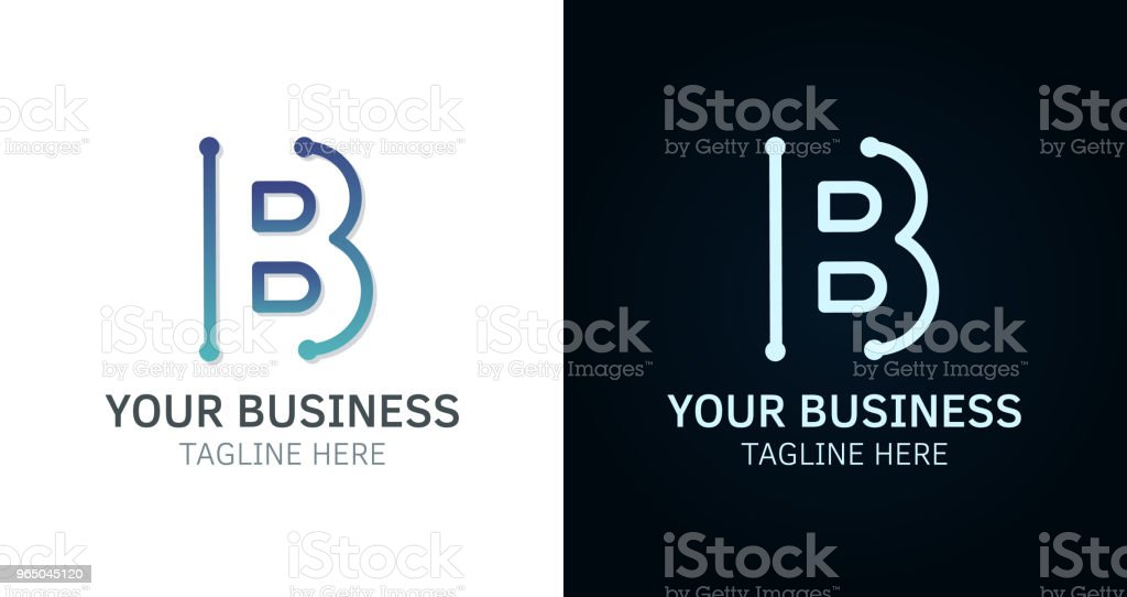 Letter B minimal  icon design. Vector template graphic elements. Technology, digital interfaces, hardware and engineering concepts. Graphic made of circuits letter b minimal icon design vector template graphic elements technology digital interfaces hardware and engineering concepts graphic made of circuits - stockowe grafiki wektorowe i więcej obrazów abstrakcja royalty-free