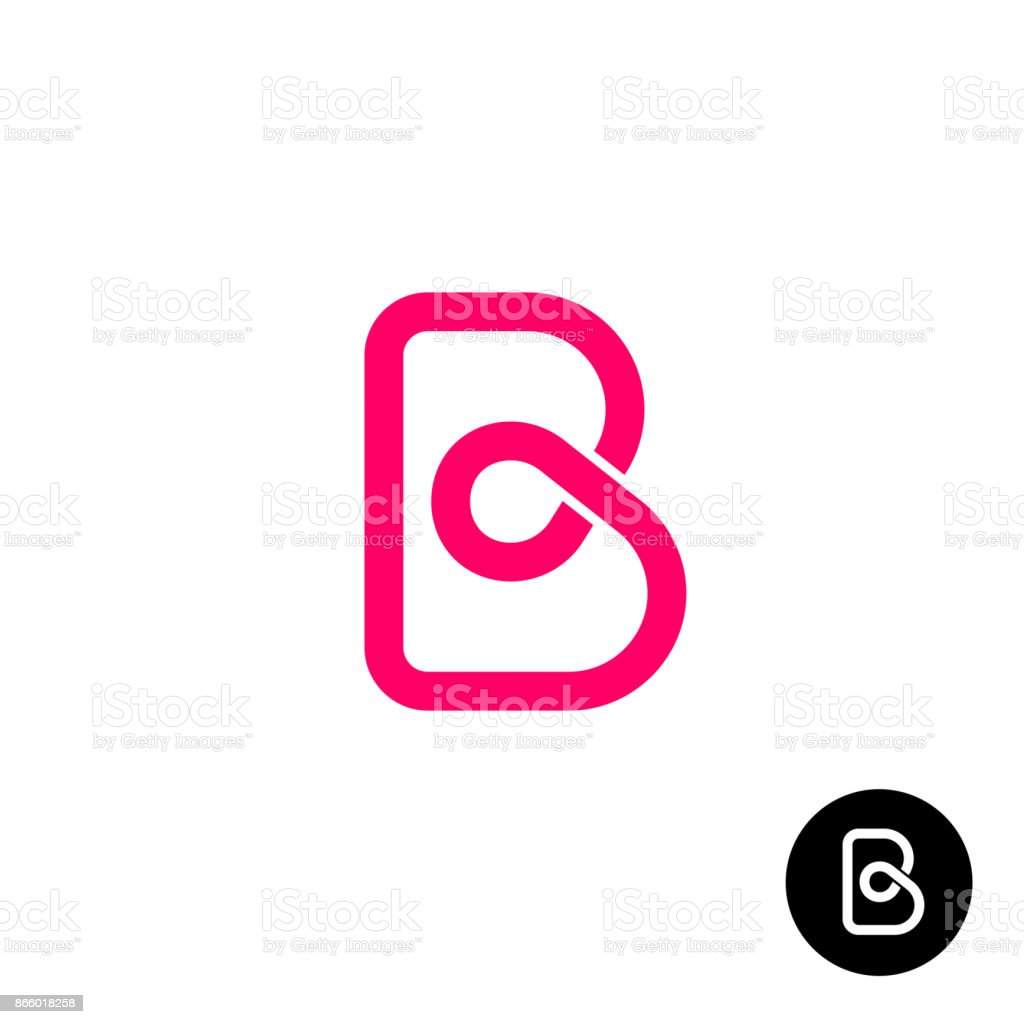 Buchstabe B Symbol Monolyne Wireframe Stil Stock Vektor Art Und Mehr