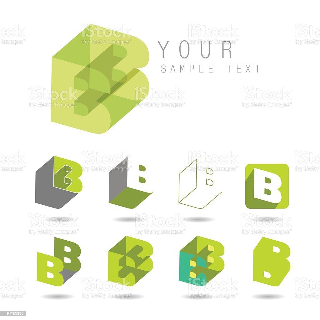 letter B vektör sanat illüstrasyonu