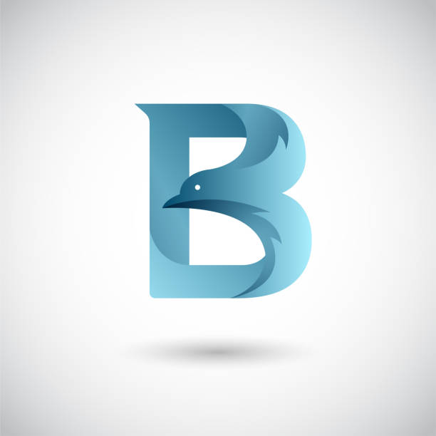 Letter B With Dove Logo Template. Creative and Elegant Logo design. vector art illustration