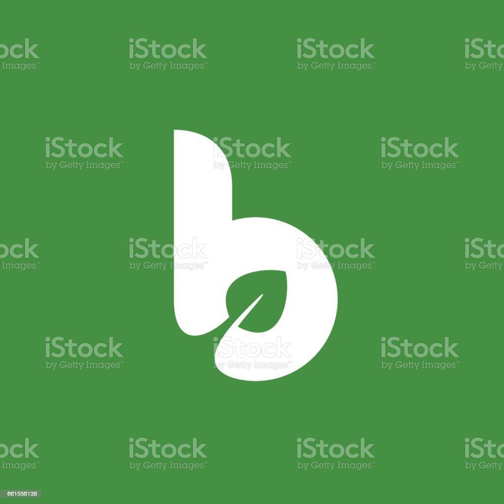 Harf B with Eko simgesi bırakır vektör sanat illüstrasyonu