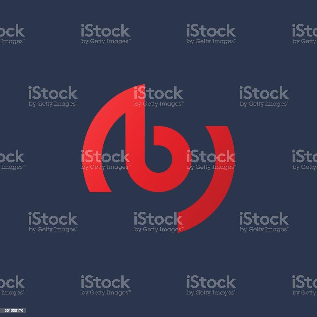 Buchstabe B mit Notiz-Symbol – Vektorgrafik