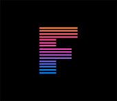 F letter based Logo in Color.