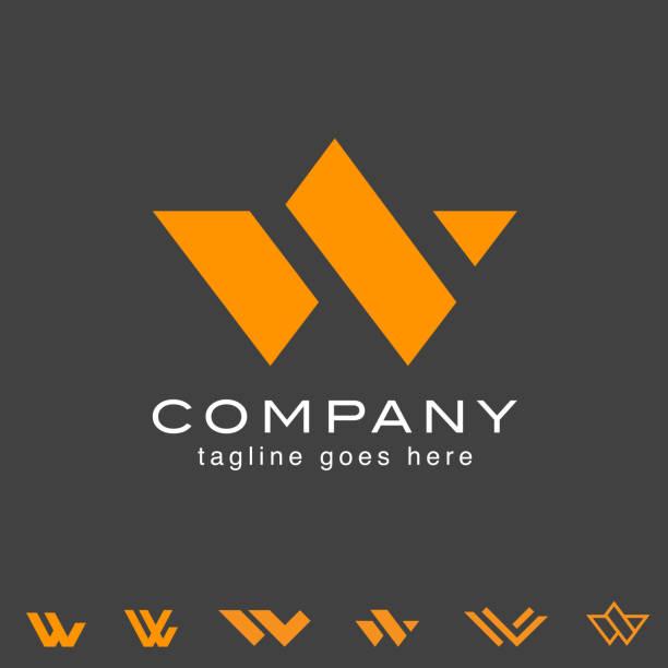 W letter based vector set W letter based vector set vector w logo stock illustrations