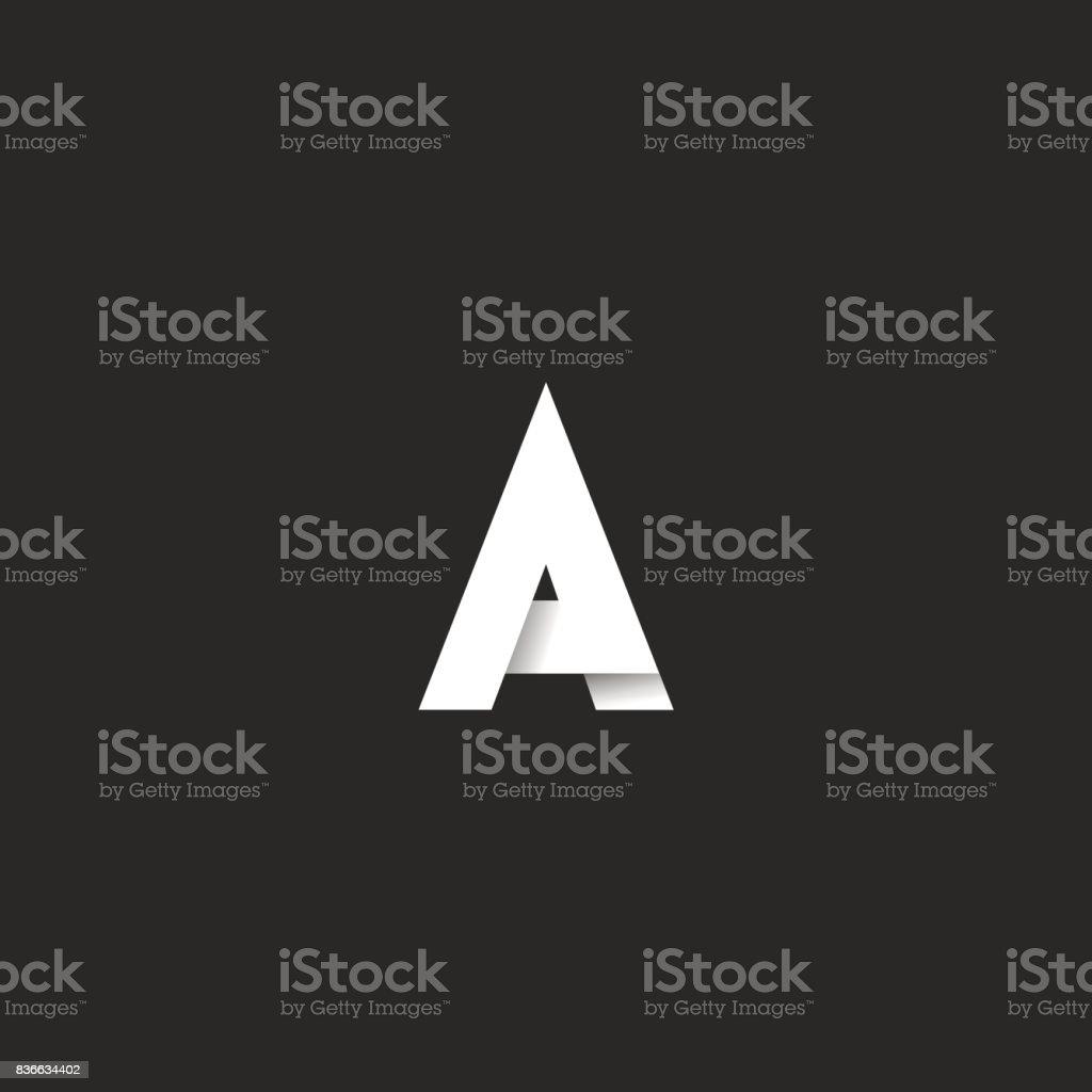Bir mektup kalın yazı tipi, zarif siyah beyaz gradyan stilini amblemi, mockup tipografi tasarım öğesi için kartvizit vektör sanat illüstrasyonu