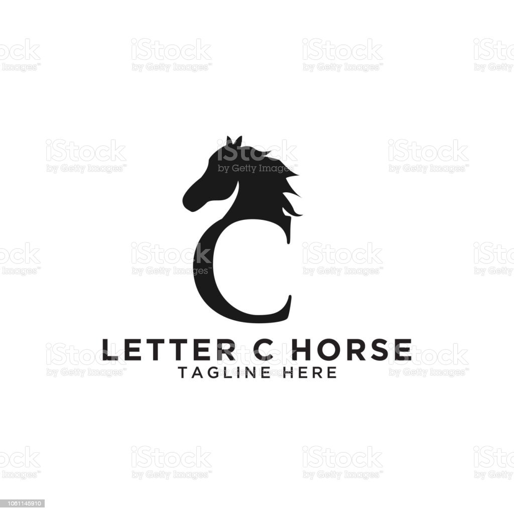 Letter C And Horse Logo Design Template Stock Illustration Download Image Now Istock
