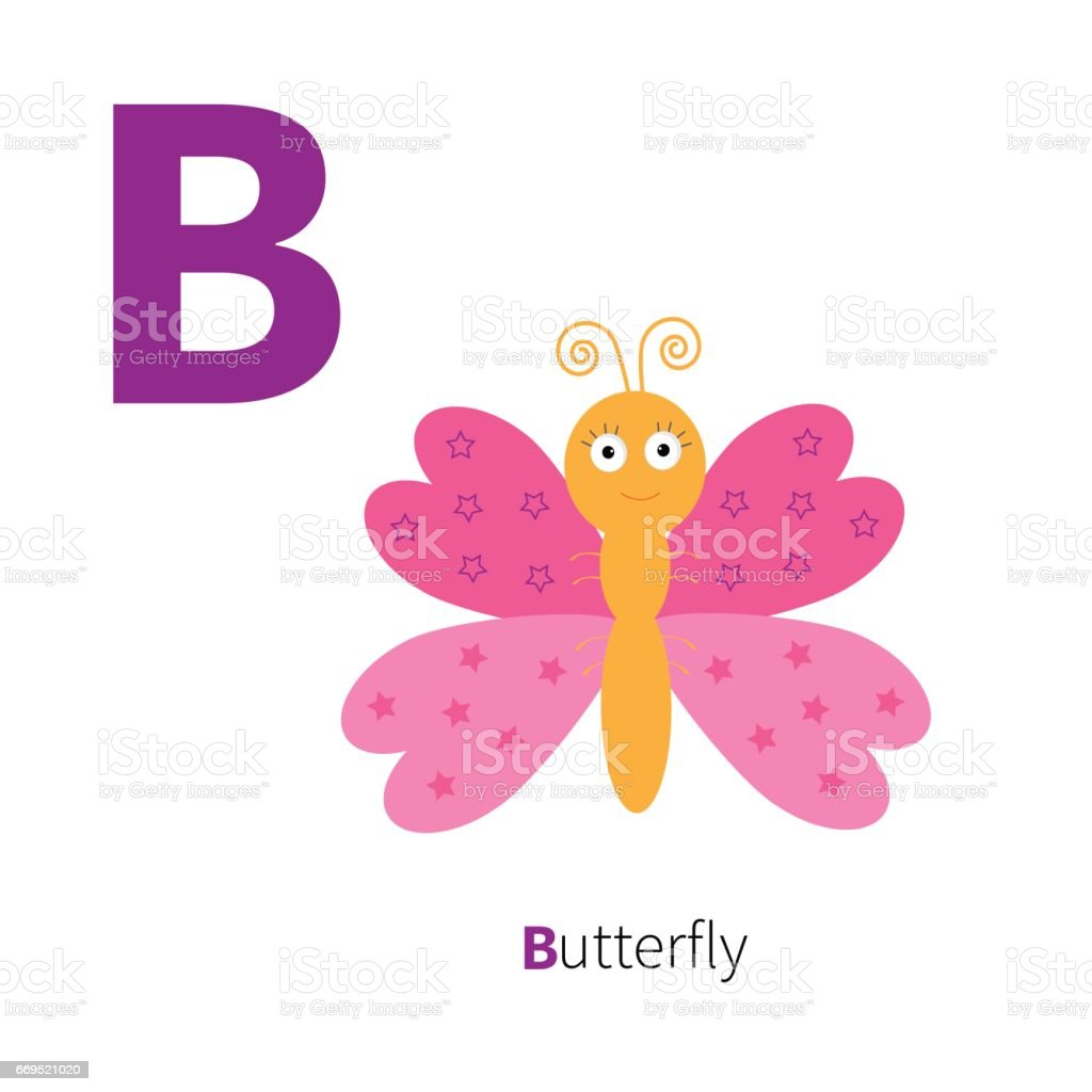 Letter C Butterfly Insect Zoo Alphabet English Abc With Animals ...