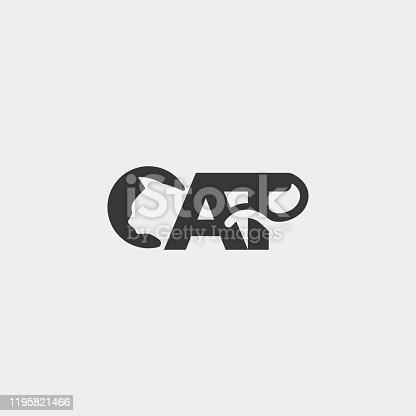istock letter C cat pet animal vector Icon Design 1195821466