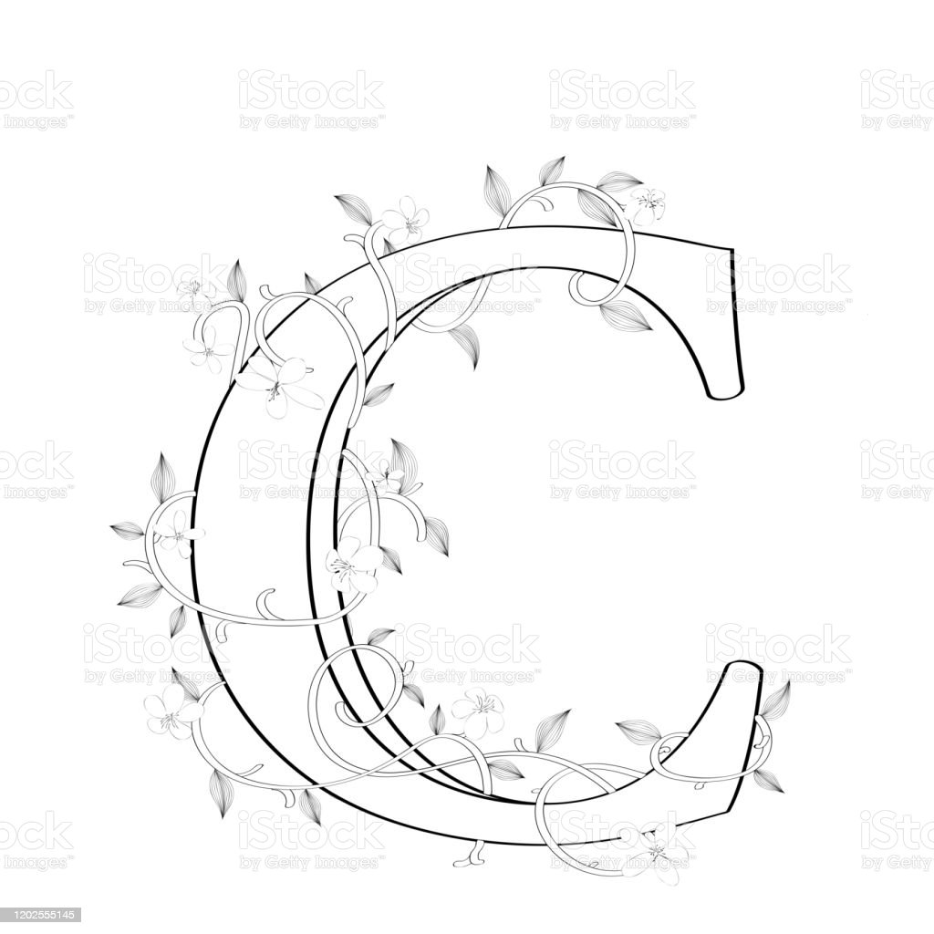 Letter C Tattoo Designs Illustrations  Royalty