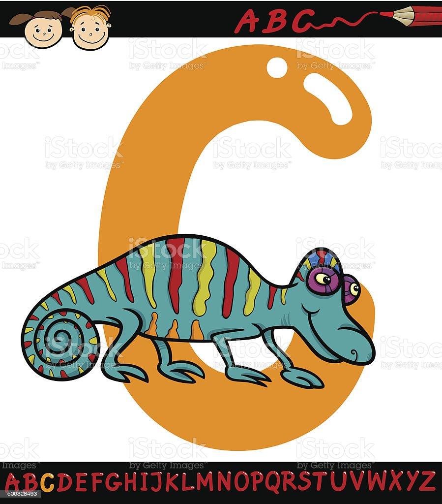 letra c para camaleão ilustração de desenho arte vetorial de stock