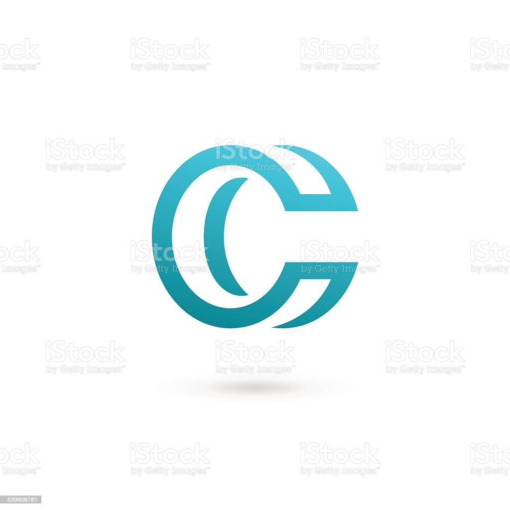 Letter C icon vector art illustration