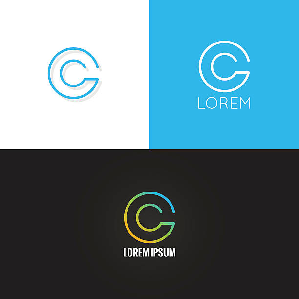 letter C logo alphabet design icon set background letter C logo alphabet design icon set background 10 eps letter c stock illustrations