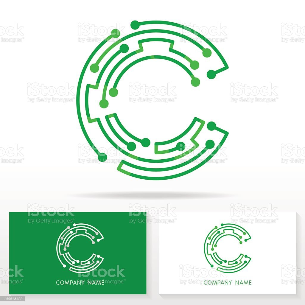 letter c logo design template illustration in green and stock vector art more images of 2015. Black Bedroom Furniture Sets. Home Design Ideas