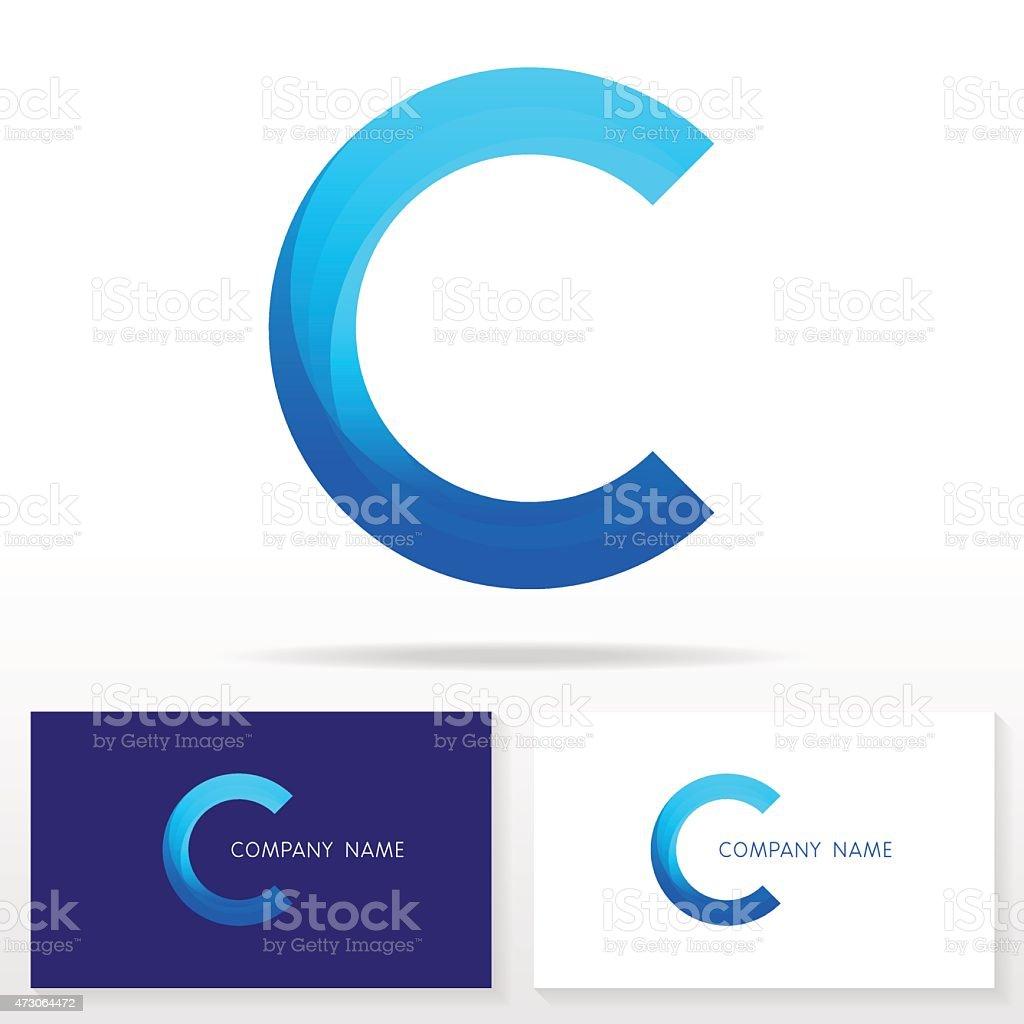 Letter C logo icon design template elements - Illustration vector art illustration
