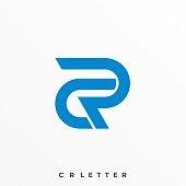 Letter C R Illustration Vector Template