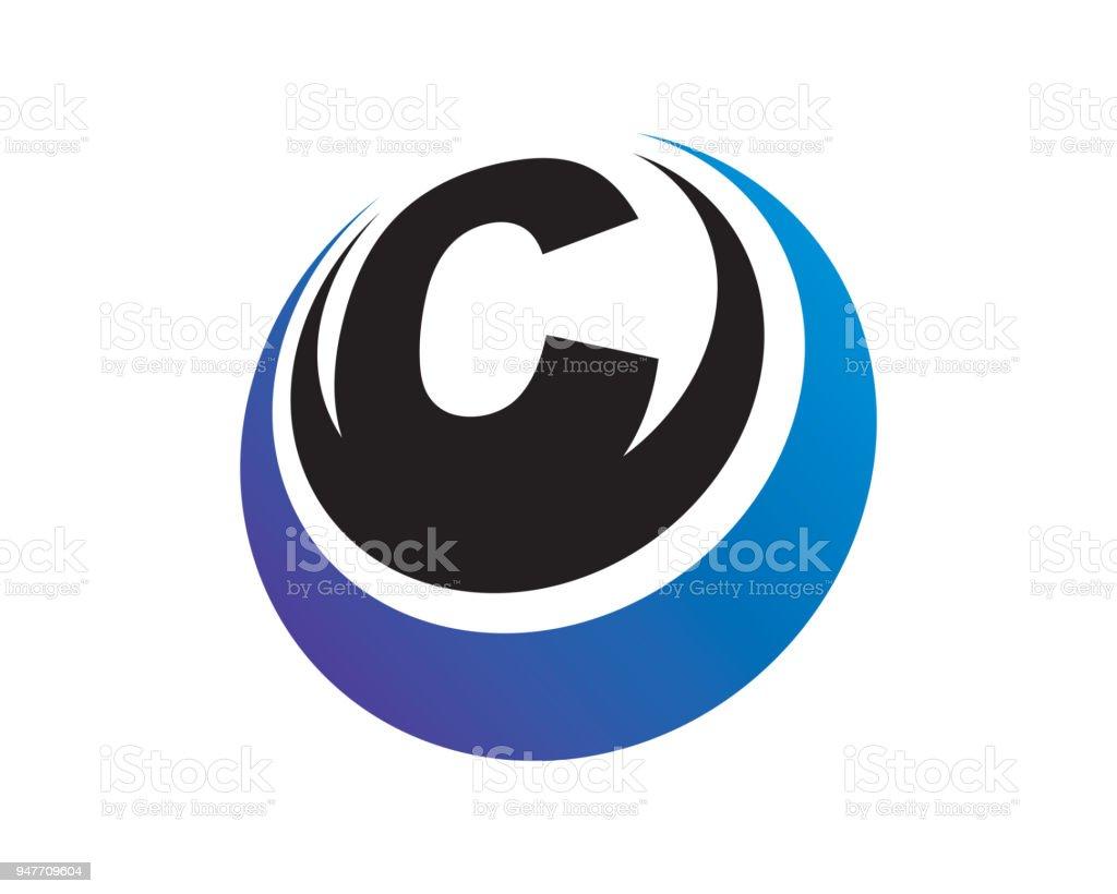 Letter C Template Design Vector Emblem Design Concept Creative