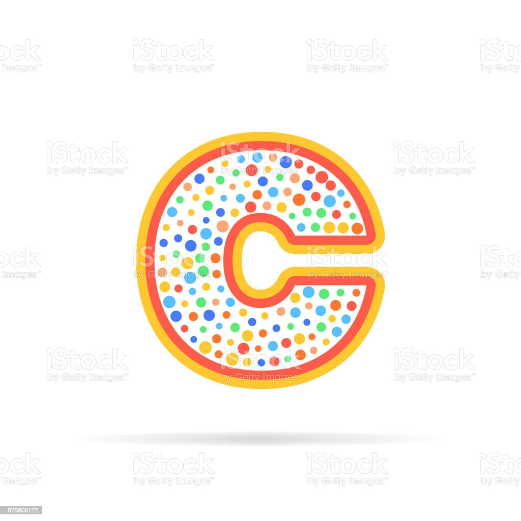 Letter C With Group Of Circles Abstract Icon Icon Creative Symbol