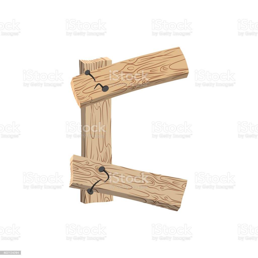 police de lettre c de planche de bois alphabet de planches et de clous gravure sur tranche de. Black Bedroom Furniture Sets. Home Design Ideas