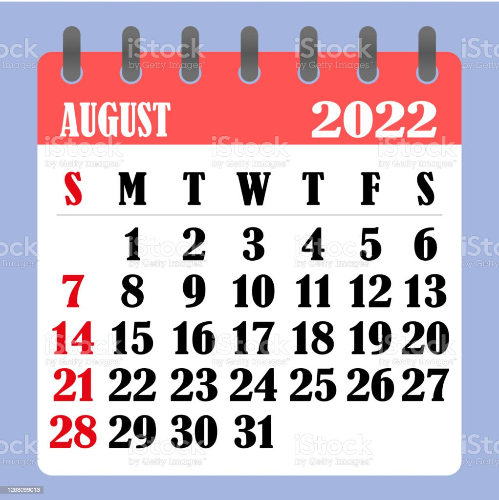 2022 August Calendar.Letter Calendar For August 2022 The Week Begins On Sunday Time Planning And Schedule Concept Flat Design Removable Calendar For The Month Vector Stock Illustration Download Image Now Istock