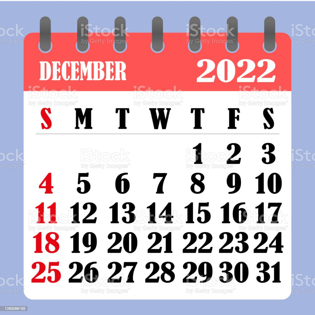 December Calendar For 2022.Letter Calendar For December 2022 The Week Begins On Sunday Time Planning And Schedule Concept Flat Design Removable Calendar For The Month Vector Stock Illustration Download Image Now Istock