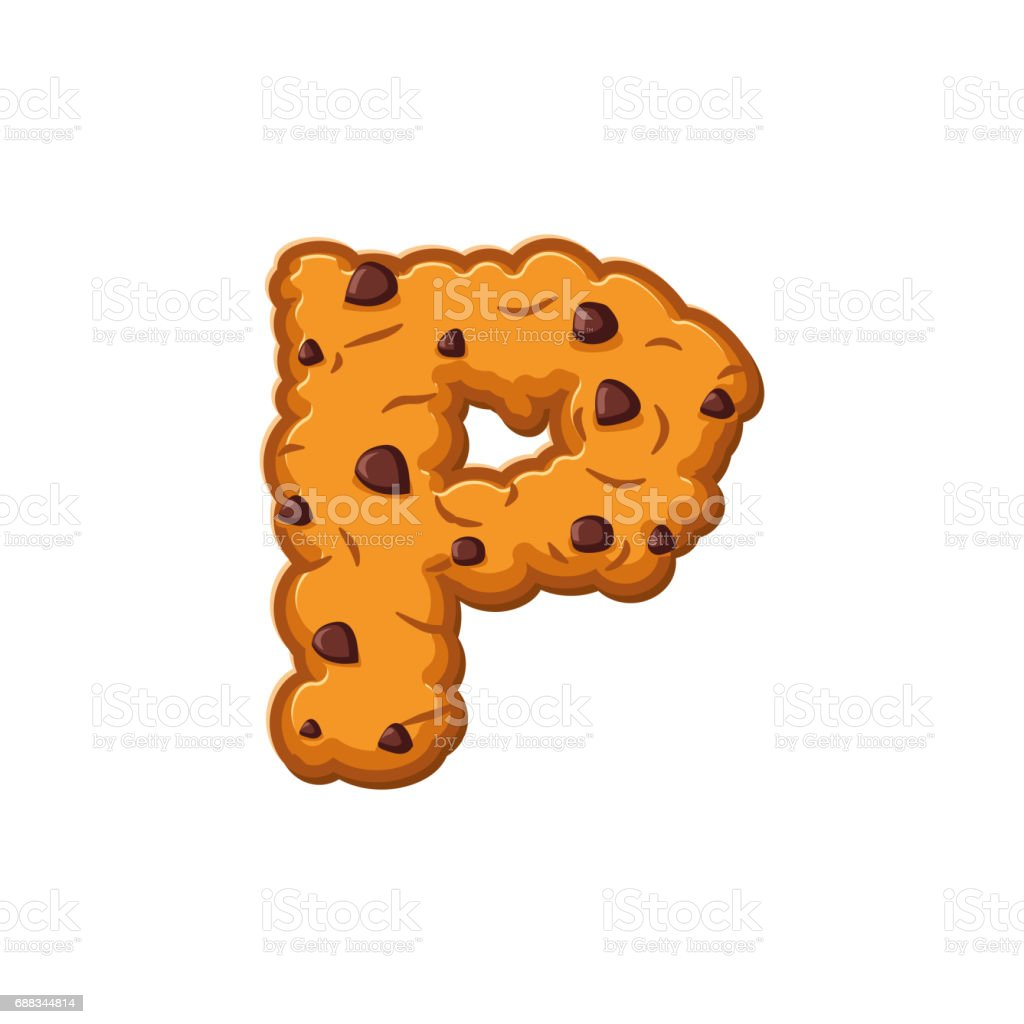 P letter cookies cookie font oatmeal biscuit alphabet for Cookie letter press