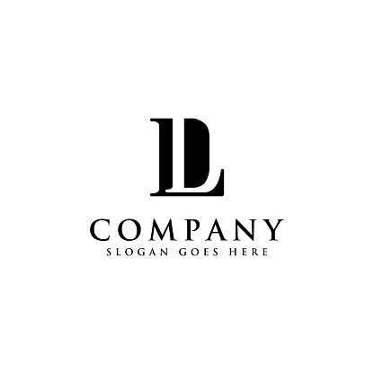 letter D and L monogram vector icon