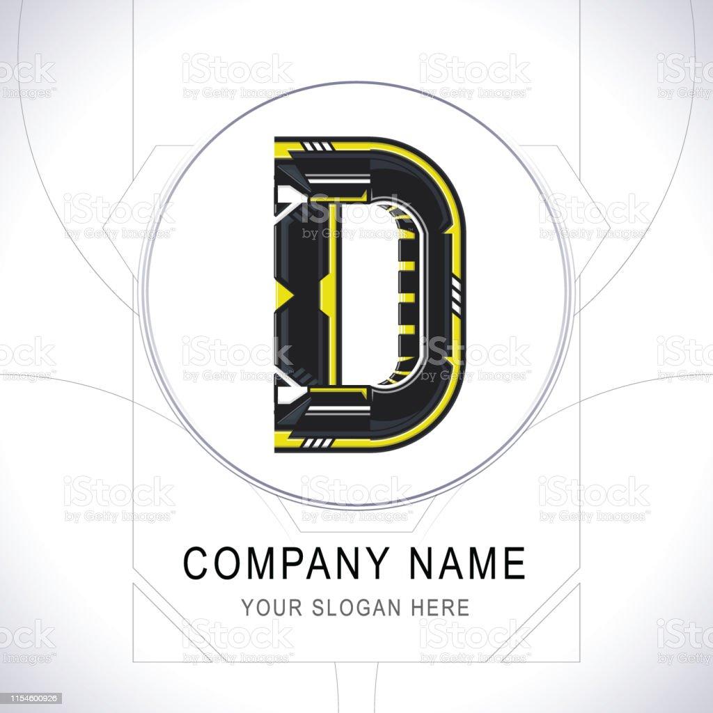 Letter D Gamer Community Logo Symbol Symbol Icon Vector