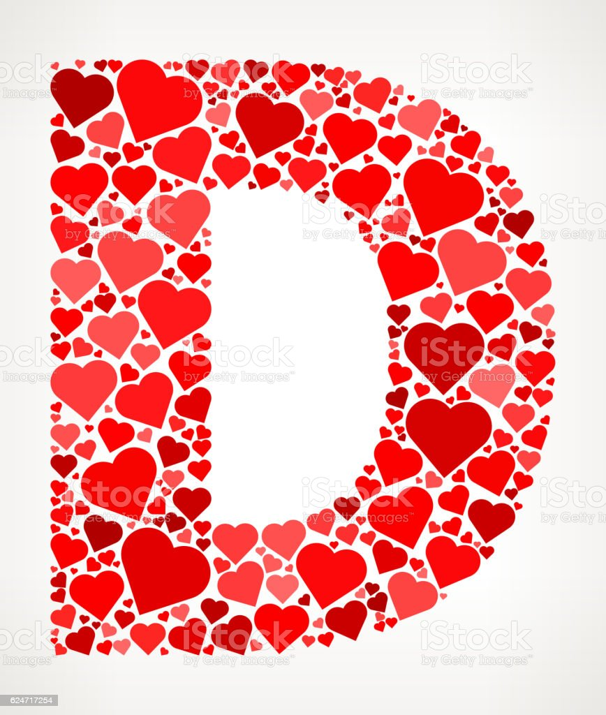 Letter d icon with red hearts love pattern stock vector art more letter d icon with red hearts love pattern royalty free letter d icon with red thecheapjerseys Choice Image