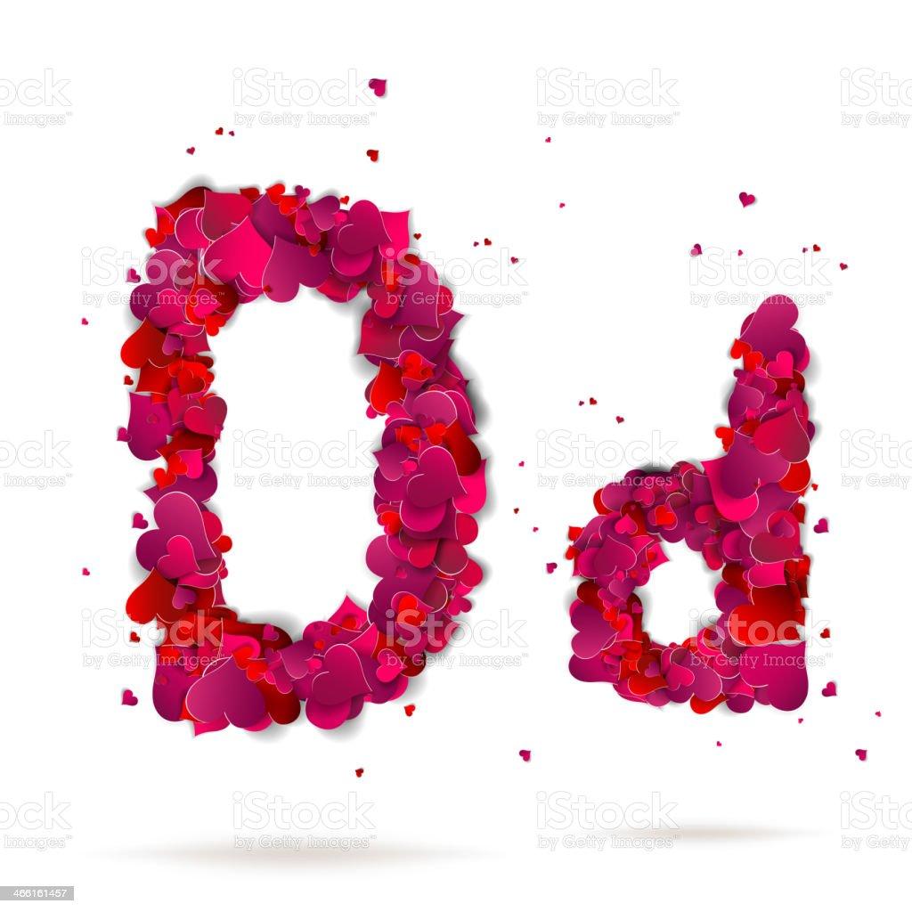 фото буква о д из сердечек прекрасно спариваются