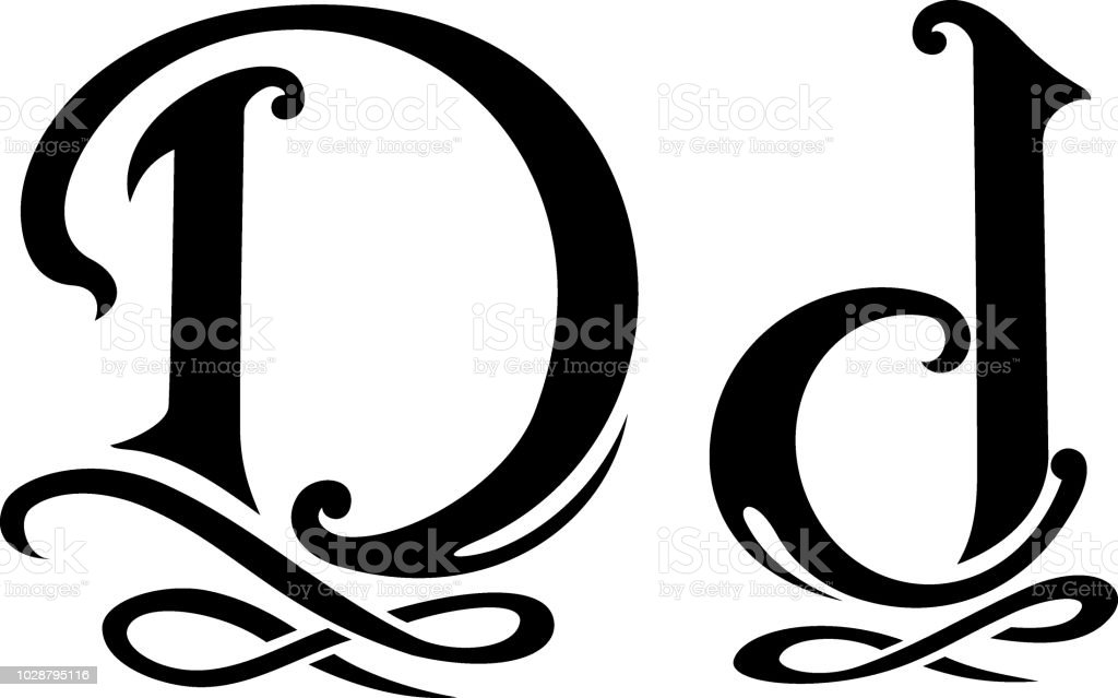 Letter D Monogram Stock Vector Art More Images Of Abstract