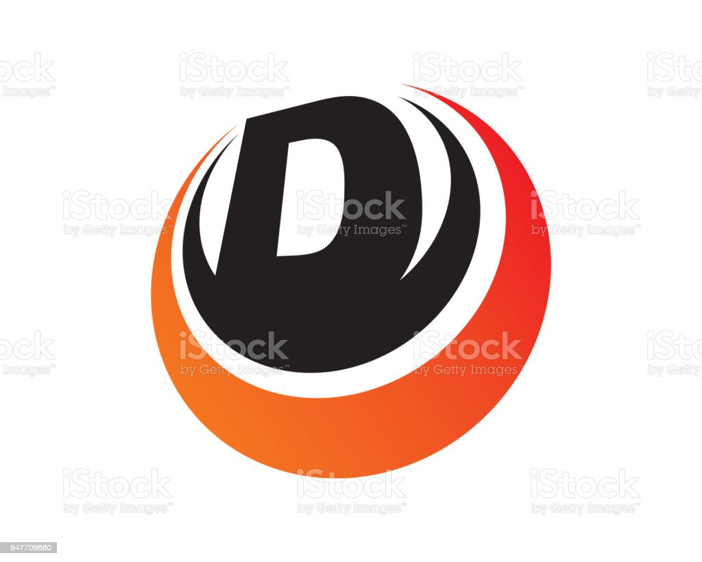 Letter D Template Design Vector Emblem Design Concept Creative