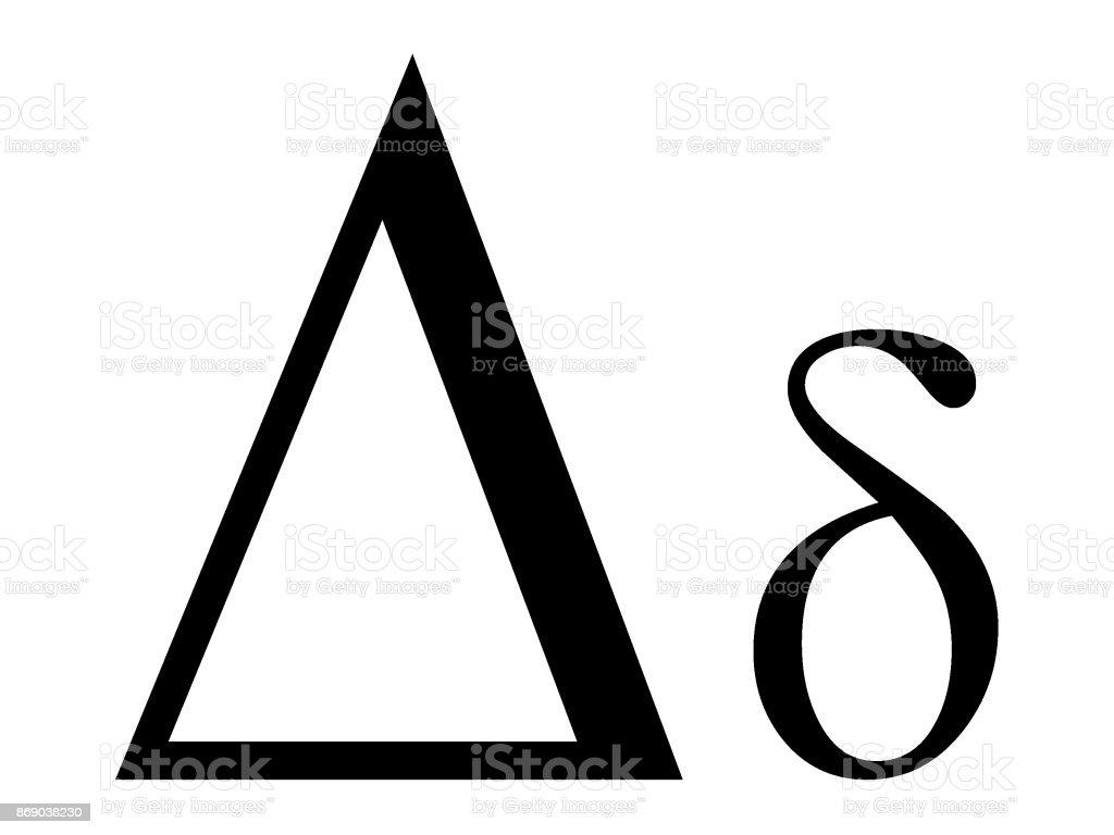 Letter Delta Stock Vector Art More Images Of Alphabet 869038230