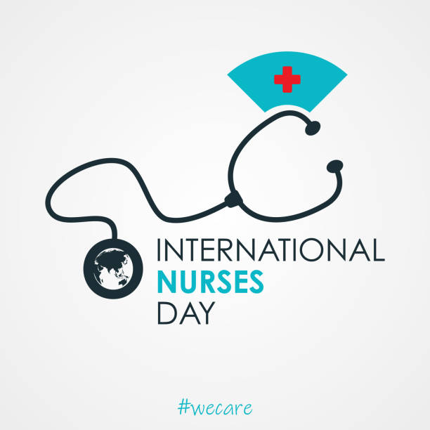 白色背景的國際護士日的信件設計 - 國際比賽 幅插畫檔、美工圖案、卡通及圖標