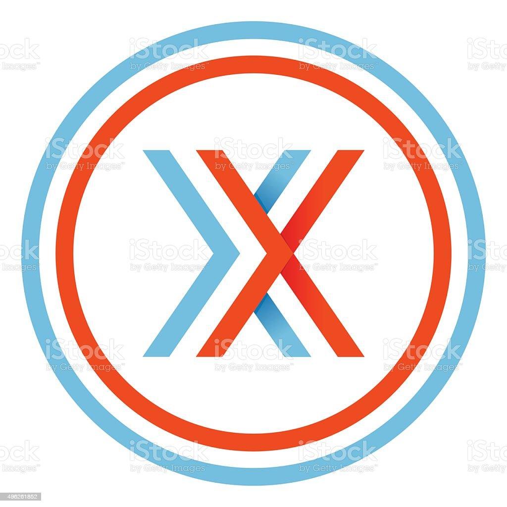 X letter design template vector art illustration