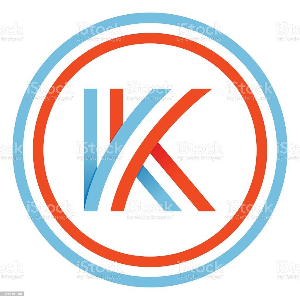 K letter design template vector art illustration