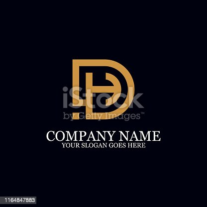 Letter DH Monogram Logo Inspiration, great for logo Marks, Clean and clever logo templates, initial logo designs