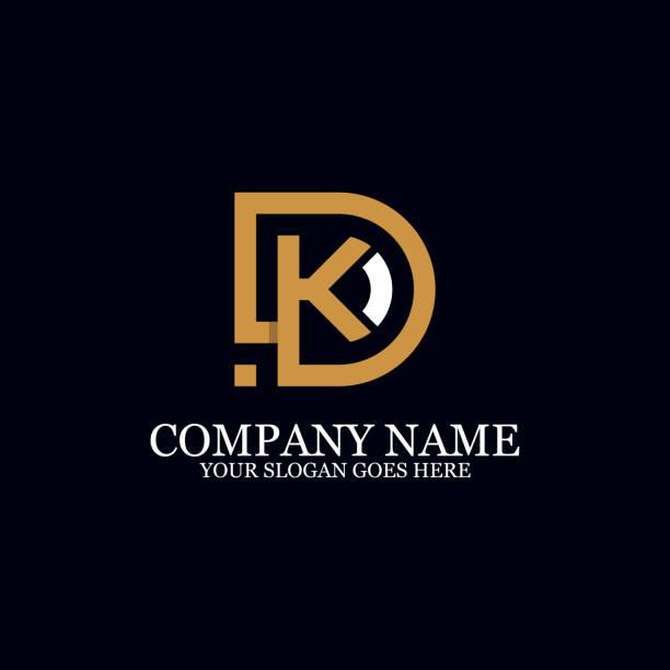 Letter DK Monogram Logo Inspiration, initial logo design Letter DK Monogram Logo Inspiration, great for logo Marks, Clean and clever logo templates, initial logo designs letter k stock illustrations