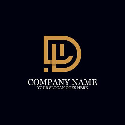Letter Dl Monogram Logo Inspiration Initial Logo Design Stock Illustration Download Image Now Istock