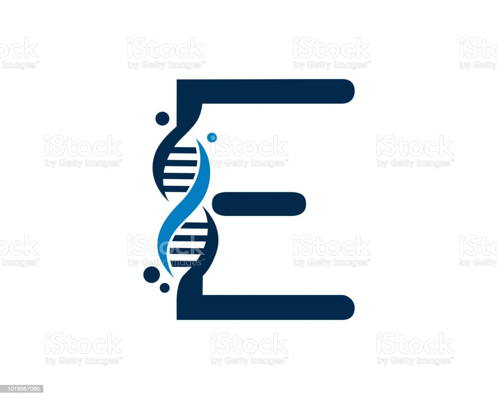 letter e dna design template royalty free letter e dna design template stock vector art