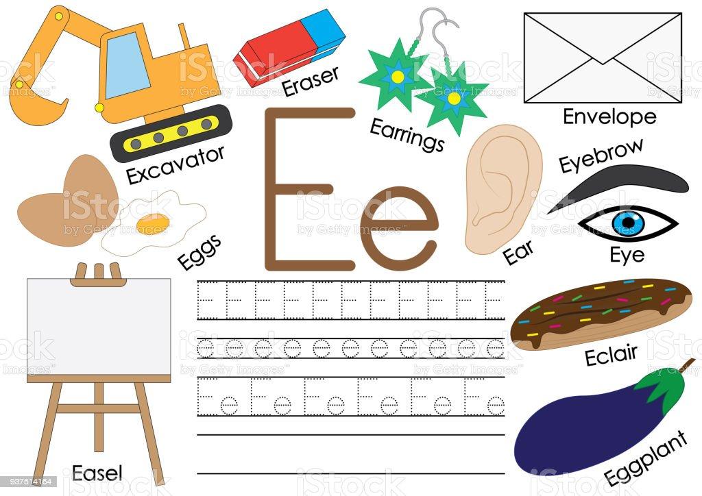 Alphabet Anglais Lettre E Relier Les Points Jeu éducatif