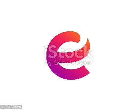 istock Letter E icon 1224179925