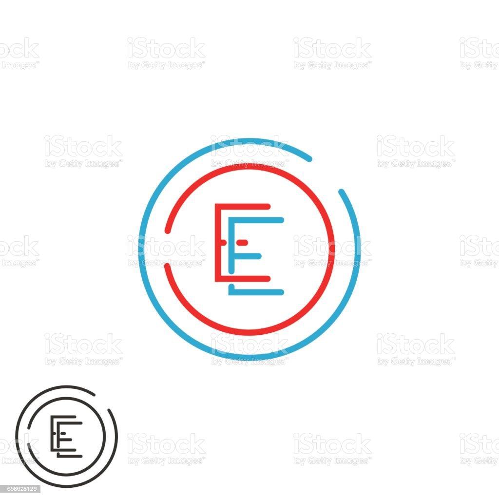 Monogramme De La Lettre E Combinaison Ee Cercle Embleme De Carte De