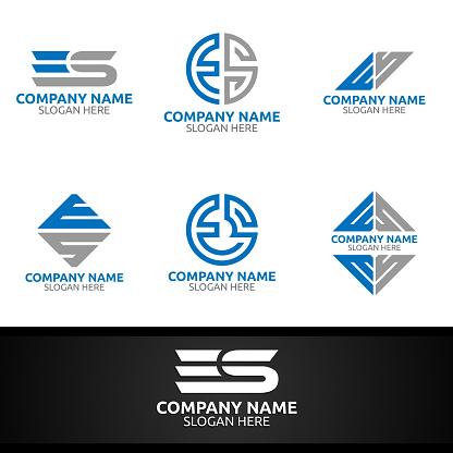 Letter E, S Digital Symbol Marketing Financial Advisor Invest Design Icon