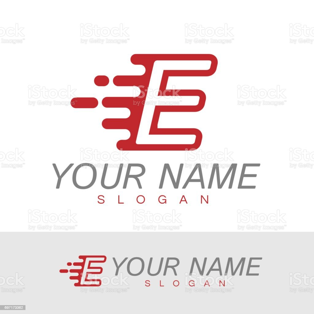 Letter e speed icon design template stock vector art more images alphabet capital letter computer network internet motorcycle letter e speed icon design template spiritdancerdesigns Choice Image