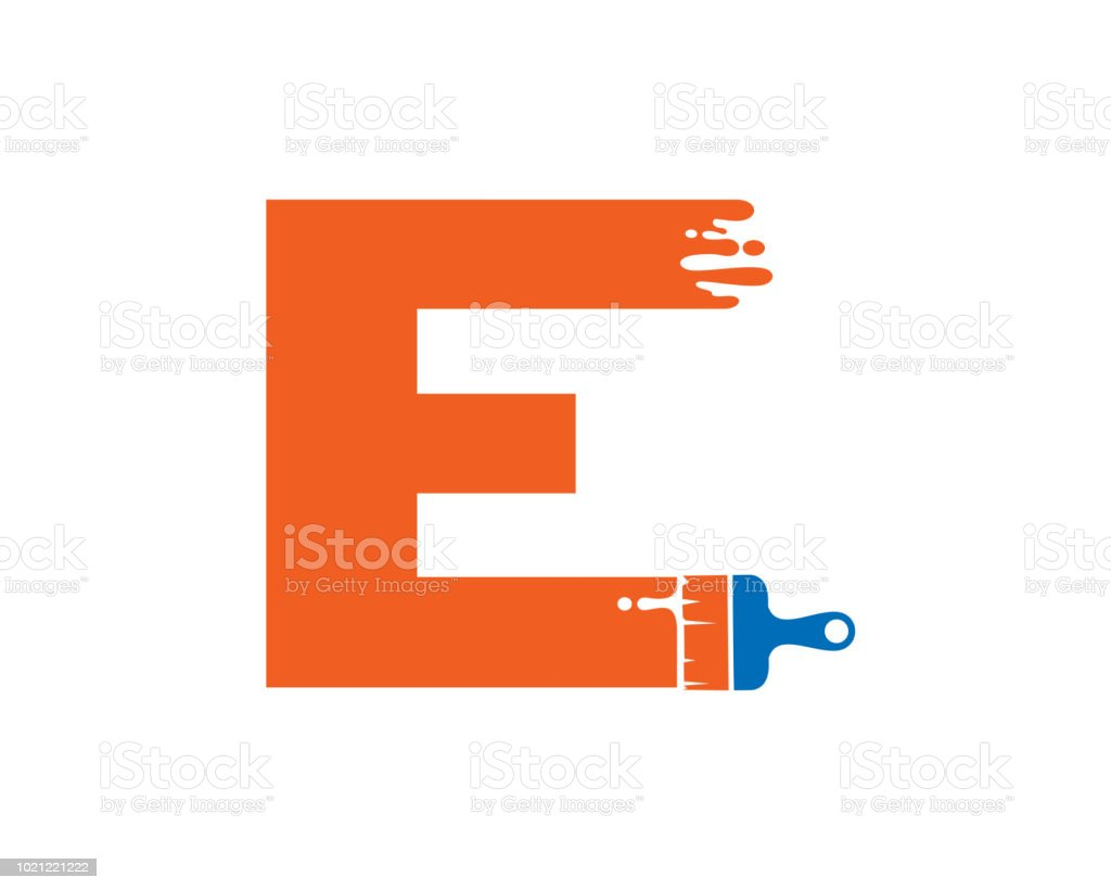 letter e symbol design template stock vector art more images of
