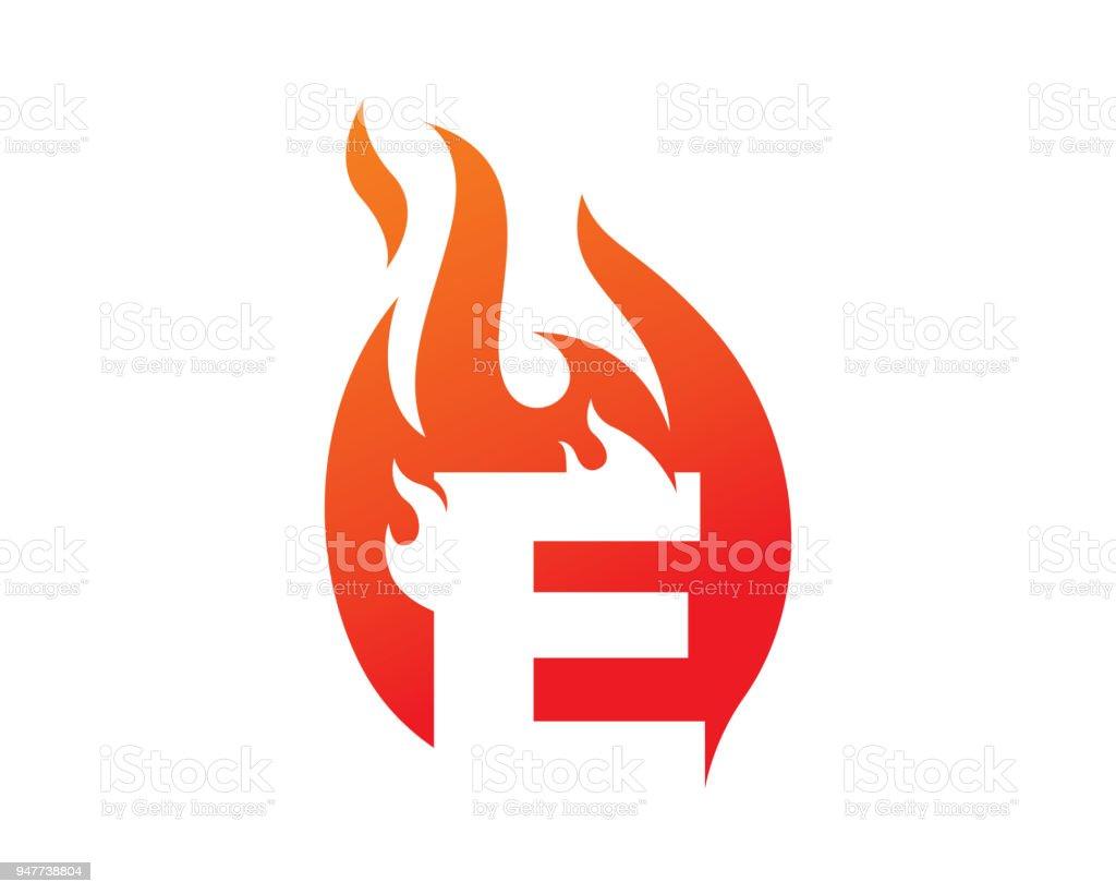letter e template design vector emblem design concept creative