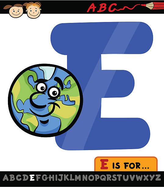 illustrations, cliparts, dessins animés et icônes de lettre e de planète cartoon illustration - enseignant(e) en maternelle