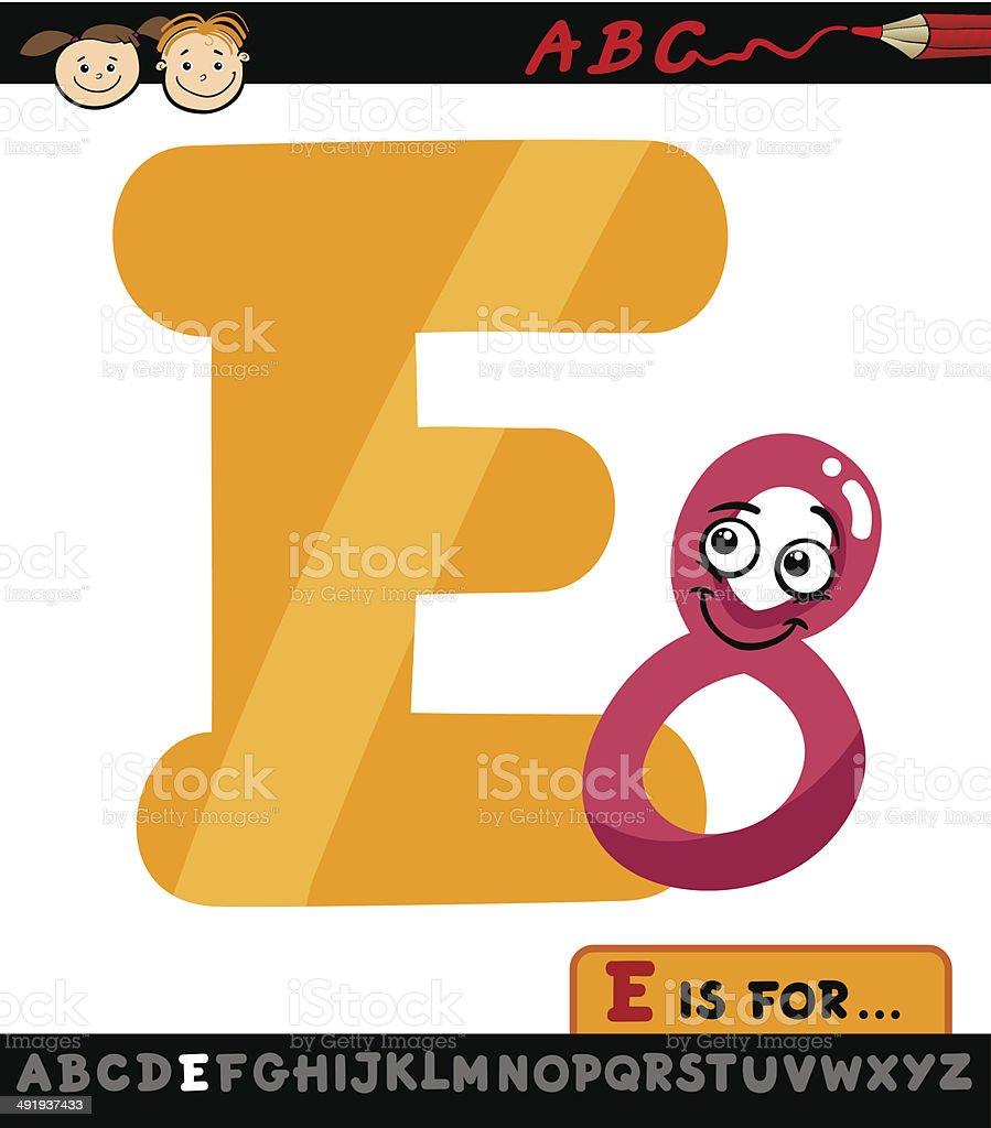 letter e with eight cartoon illustration vector art illustration